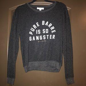 Pure Barre X Spiritual Gangster pullover